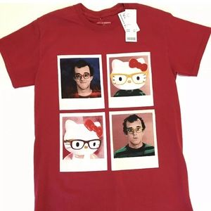 Hello Kitty x Keith Haring T-Shirt Small NWT Red